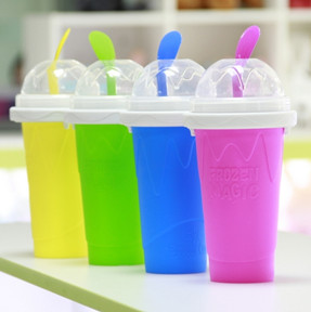 Squeezy freezy instant slushy maker ice cup