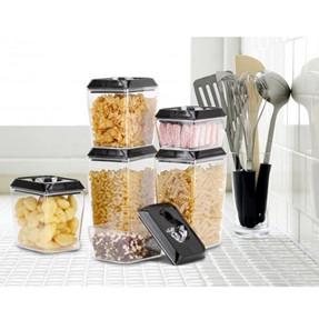 6 Piece Rectangular Storage Pantry Set