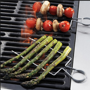 Double Raft Stainless-Steel Grill Skewers